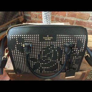 Kate Spade Black & Pink Cutout Crossbody bag